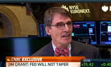 Thumbnail of Jim Grant: No Fed taper next week from CNBC Closing Bell