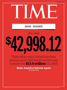 Thumbnail of Jim sparks national debate as US debt reaches inflection point from Time Magazine Cover Story